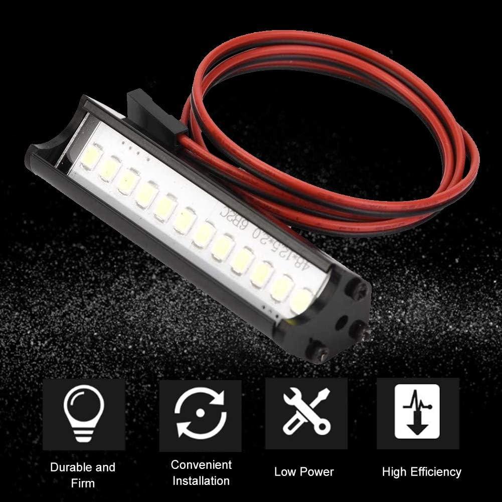 Dilwe Barra de Luz LED para Coche RC 55 mm RC Crawler Barra de Luz LED Accesorio para L/ámpara LED Compatible con 90046 90048 SCX10 1:10 RC Car