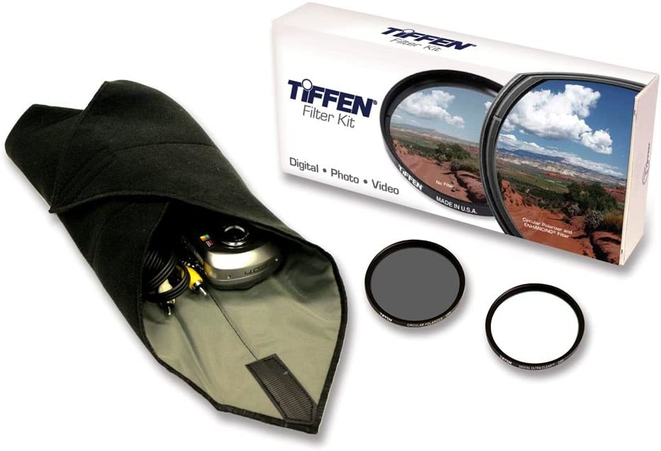 plus Circular Polarizer Filter and Accessory Wrap Tiffen 67mm Lens Kit includes Digital Ultra Clear Filter