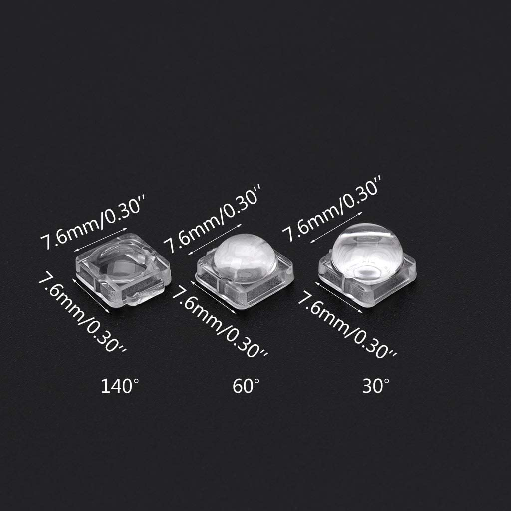 140 Grad GROOMY 100 ST/ÜCKE Objektiv f/ür 5050 WS2812 APA102 WS2811 SK6812 30 60 140 Grad Winkellinse