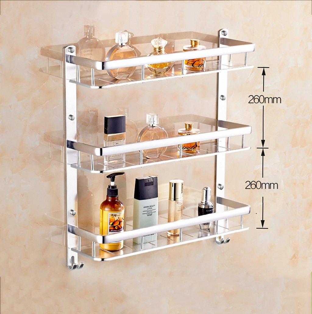タオル掛け ガラス棚スペースアルミタオルネットバスルーム棚壁ミラー タオルスタンド (サイズ さいず : 60 cm 60 cm) B07DX9VX4Q60 cm 60 cm