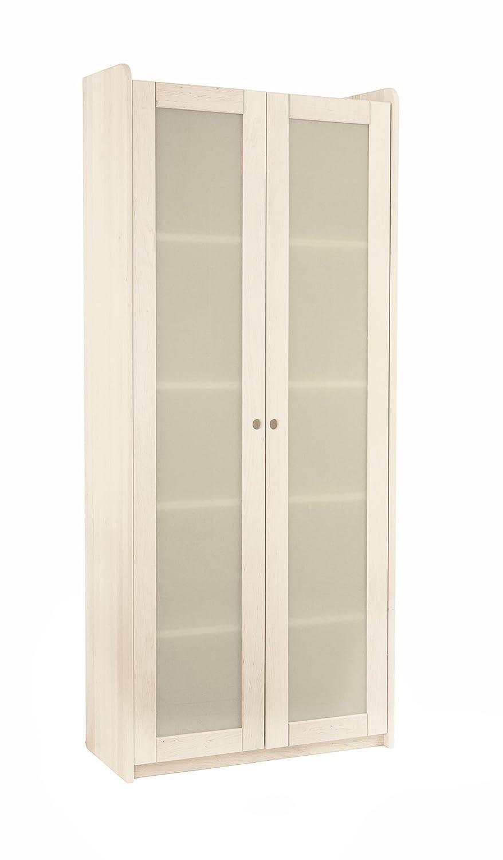 BioKinder 23157 Lara Spar-Set Regal mit 2 Satinglastüren aus Massivholz 200 x 84 x 35 cm