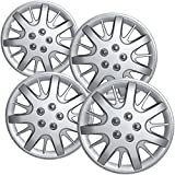 Hub-Caps for Select Chevy Impala and Monte Carlo (Pack of 4) 16 Inch Silver Wheel Covers