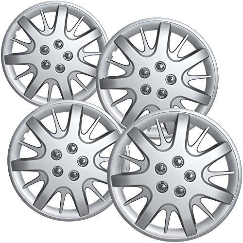 Chevy Impala Coupe (Hub-Caps for Select Chevy Impala and Monte Carlo (Pack of 4) 16 Inch Silver Wheel Covers)