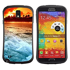 Pulsar iFace Series Tpu silicona Carcasa Funda Case para SAMSUNG Galaxy Note 3 III / N9000 / N9005 , Sunset Beautiful Nature 103