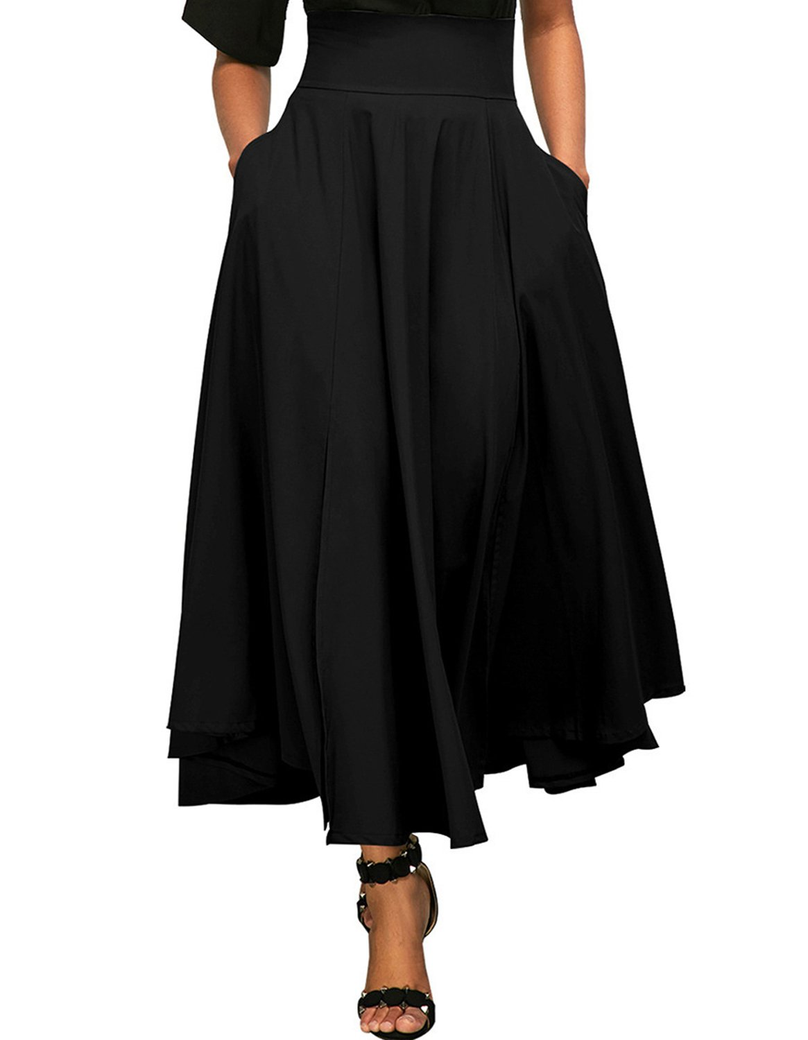 Kimikal Gothic Steampunk Long Sateen Corset Skirt 3