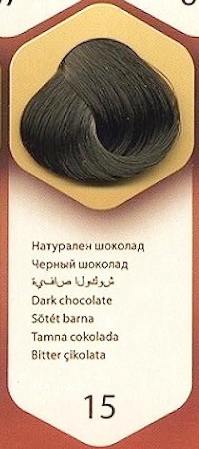 Color time, tinte permanente para el cabello de color chocolate negro 15