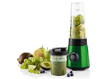 Licuadora calentador zumos + 2 vaso a llevar verde
