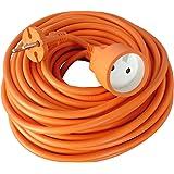 Zenitech - Prolongateur 16A HO5VVF 2x1.5 Orange 25m