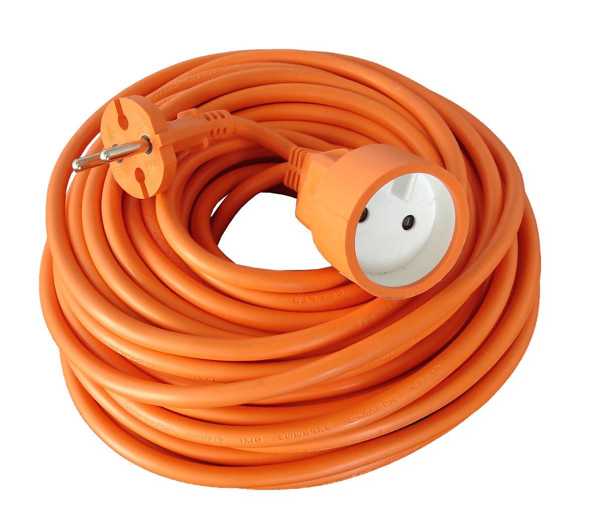 Zenitech - Prolongateur 16A HO5VV-F 2x1, 5 Orange 40m Inconnu 192205 rallonge électrique prolongateur electrique rallonge electrique exterieur prolongateur électrique prise rallonge rallonge prise