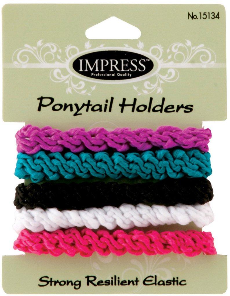 Impress 5-piece Large Stretch Ponytail Holders (288-ct case) 288 pcs sku# 1870442MA