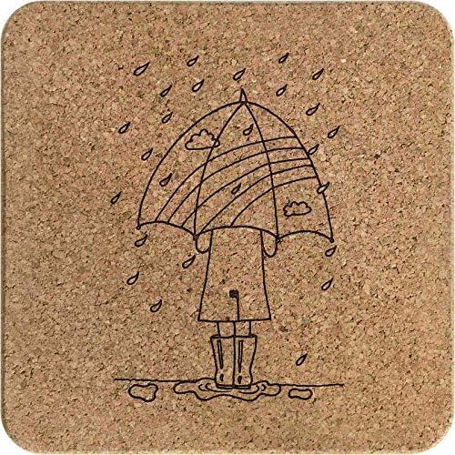 TR00001808 Azeeda Parapluie sous la Pluie Li/ège Dessous de Plats