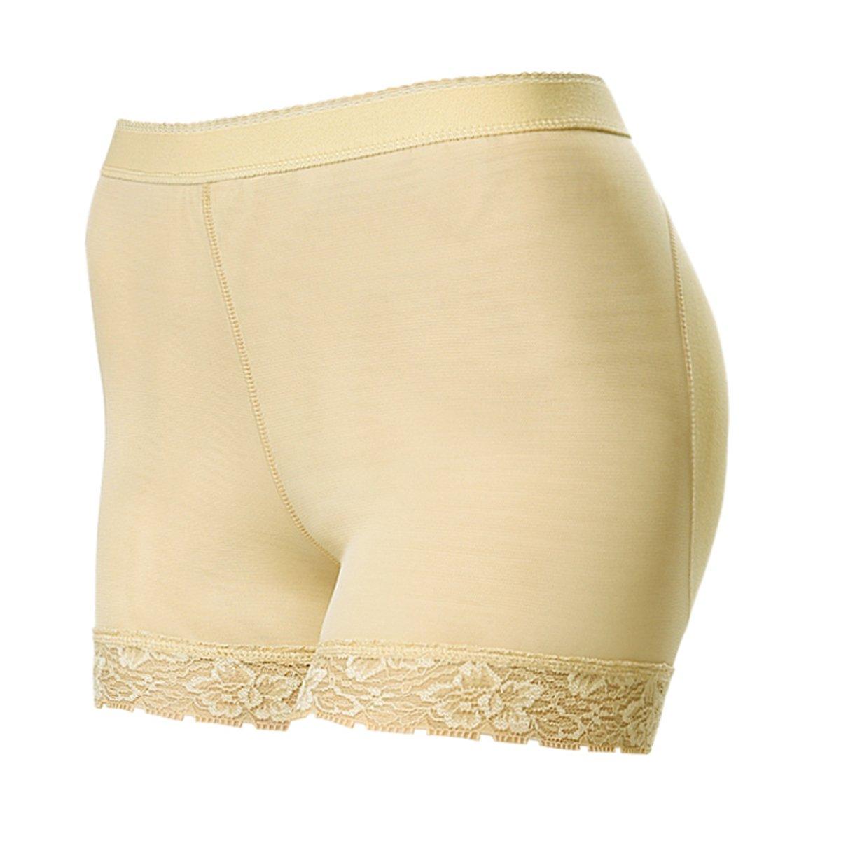 Junlan Women's Seamless Butt Hip Enhancer Jacquard Shapewear Hip Butt Padded Panty J-1518-B-M/L-GG25