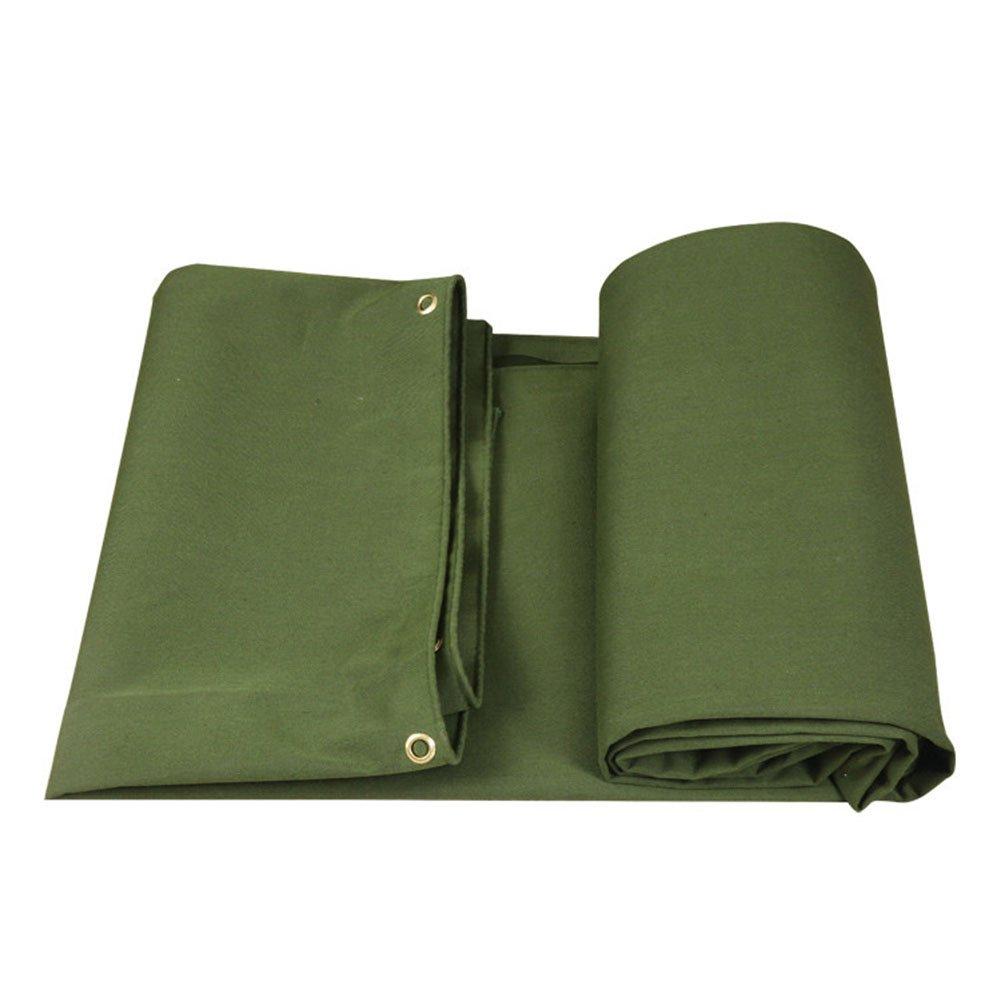 CHAOXIANG オーニング 厚い 折りたたみ可能 防水 耐寒性 アンチサン シェード 耐摩耗性 耐食性 防湿性 シリコンクロス 緑、 620g/m 2、 厚さ 0.85mm、 8サイズ (色 : 緑, サイズ さいず : 5×7m) B07D2YQ5SM 5×7m|緑 緑 5×7m