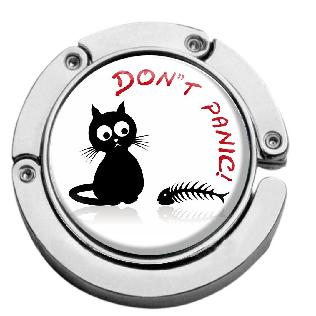metALUm Taschenaufhänger in runder Form Katze 2601005