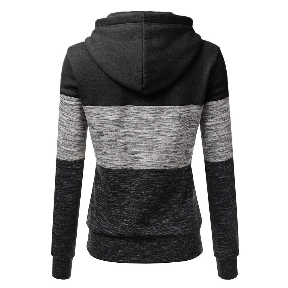 7747907c Women Long Sleeve Hoodies Pullover Teen Girls Sweatshirts Pacthwork Shirts  Sweater Blouse Hooded Tops at Amazon Women's Clothing store: