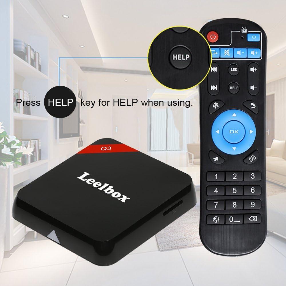 Versión Pura]Leelbox Q3 Android TV Box Smart TV Box Android 6.0 de 2 GB / 16 GB 5G / 2.4G Dual WiFi con 1000M LAN Actualización de M9s: Amazon.es: Electrónica