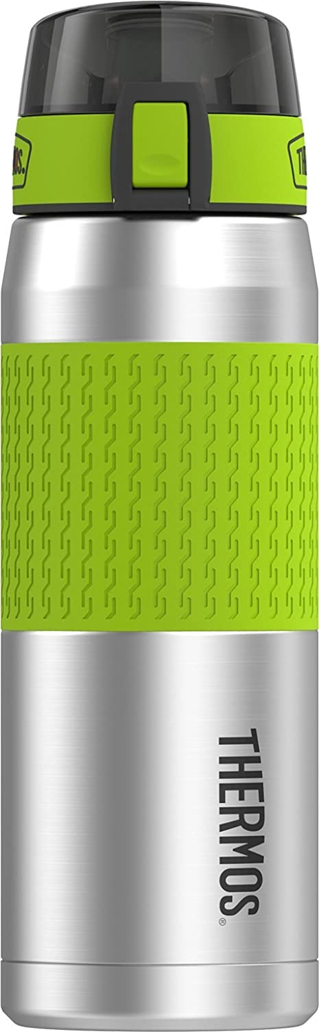 Thermos 24 Ounce Stainless Steel Hydration Bottle, Lime Green