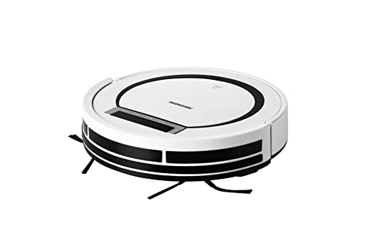 Medion MD 18600 - Robot aspirador para alfombras, baldosas, 90 minutos de tiempo de funcionamiento, retorno a la estación de carga, sensores de seguridad, ...