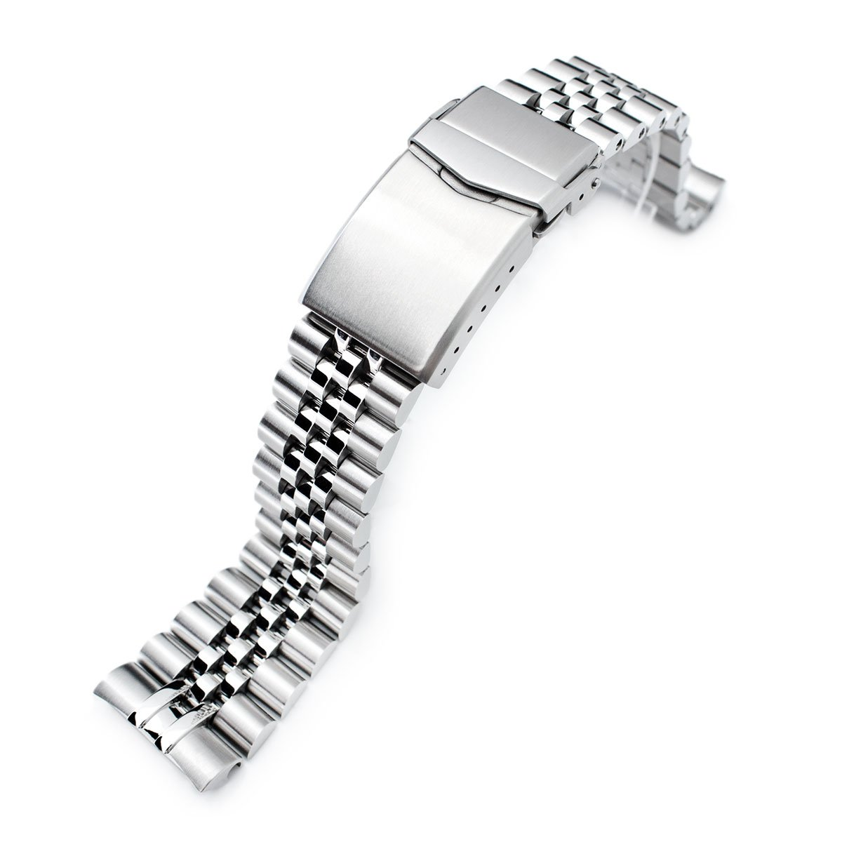22mm Super Jubilee 316L SS Watch Bracelet for Seiko New Turtles SRP777, V-Clasp Brushed