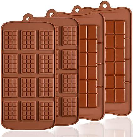 JINQD-Baking Mold SENHAI 4 Piezas de moldes de Chocolate de ...