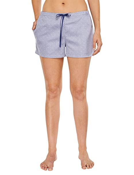 Schiesser Web Shorts-Parte inferior del pijama Mujer azul (dunkelblau 803) 36