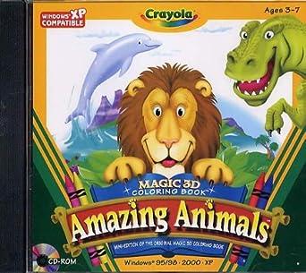 Amazon.com: Crayola Magic 3D Coloring Book - Amazing Animals: Video ...