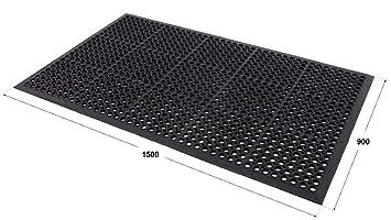 rubber mats outdoor entrance non slip matting amazon co uk kitchen