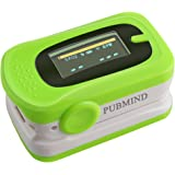 Fingertip Pulse Oximeter Blood Oxygen Saturation Monitor SPO2 Printerval with Silicon Cover, Batteries and Lanyard
