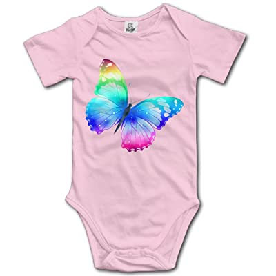 Jaylon Baby Climbing Clothes Romper Cute Butterfly Infant Playsuit Bodysuit Creeper Onesies Pink