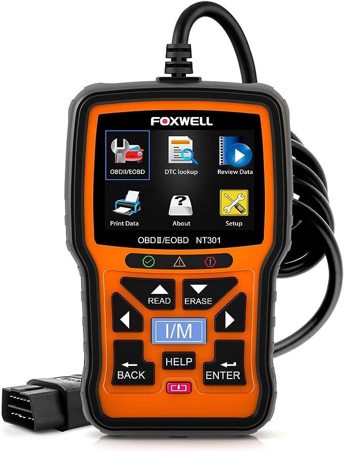 Foxwell Nt301 Eobd Obd Ii Engine Diagnostic Tool Fault Code Reader English User Manual Auto