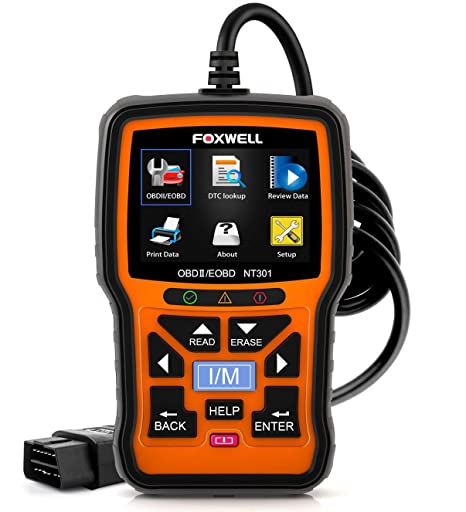 FOXWELL NT301 OBD2 Scanner Professional Enhanced OBDII Diagnostic Code  Reader Engine Tool