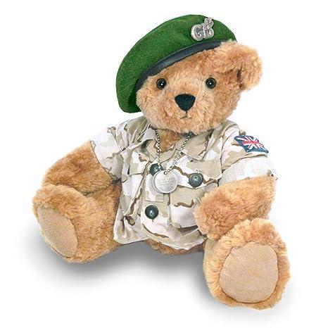Osito de Peluche del Ejército con Boina Verde - Ositos de Peluche de Gran Bretaña