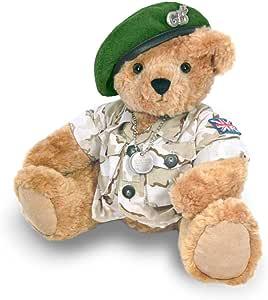 Osito de Peluche del Ejército con Boina Verde - Ositos de