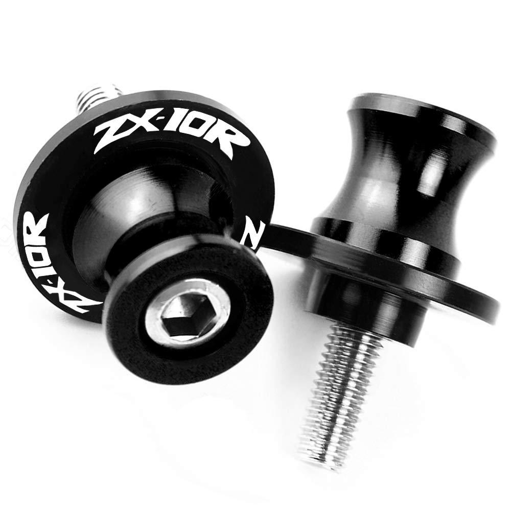 8MM Motorcycle Swingarm Spool Slider Stand Screws For Kawasaki ZX-10R ZX10R Black