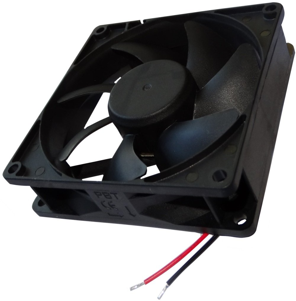 Ventilador para caja de ordenador PC 24V 92x92x25mm 127,421m3//h 46dBA 4500rpm 5.28W 0.22A Vapo 2 cables 24AWG C14569 AERZETIX