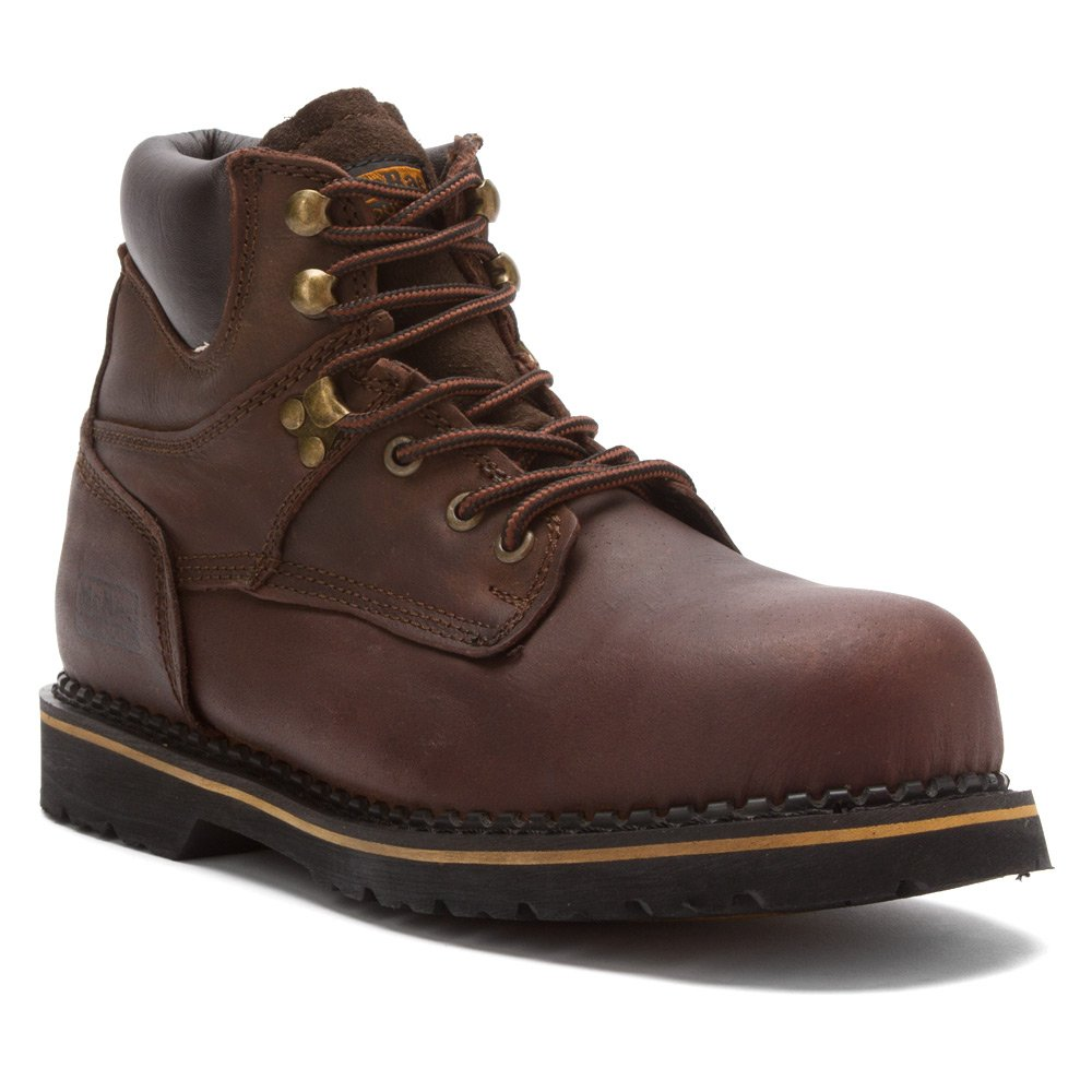 Mcrae Industrial Safety ToeレースアップMen 'sレザーブーツ B002YS46GK 13 D(M) US|ダークブラウン ダークブラウン 13 D(M) US