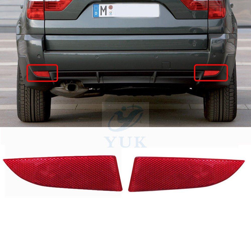 Yuk par para BMW E83 X3 2007 –  2010 parachoques trasero Vivienda Side marcador reflector luz de aviso