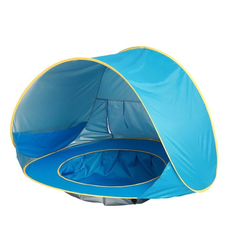 XZANTE Azul Carpa de Playa para Beb/é Sombra Port/átil Impermeable Piscina Protecci/ón contra Rayos Ultravioleta para Infantil Ni?os Al Aire Libre C/ámping Quitasol Playa