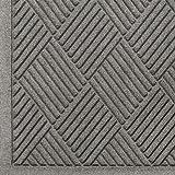 Andersen 221 Waterhog Fashion Diamond Polypropylene Fiber Entrance Indoor Floor Mat, SBR Rubber Backing, 3-Feet Length X 2-Feet Width, 3/8-Inch Thick, Medium Grey