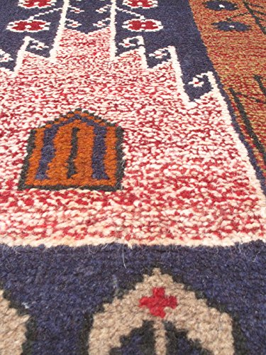 """New Afghan Royal Balouch Style Navy Rug 3'1"""" x 4'6"""" ecarpetgallery Area Rug Traditional, Tribal Hand-knotted Carpet"""