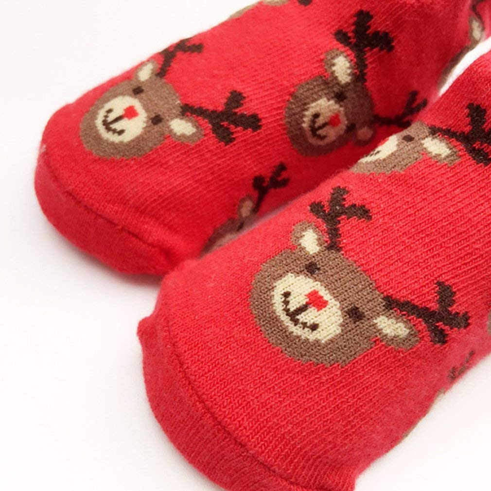 Tcplyn Premium Quality 1 Pair Winter Baby Cotton Socks Cute Elk Pattern Girls Boys Kids Socks Children Ankle Socks Jacquard Terry