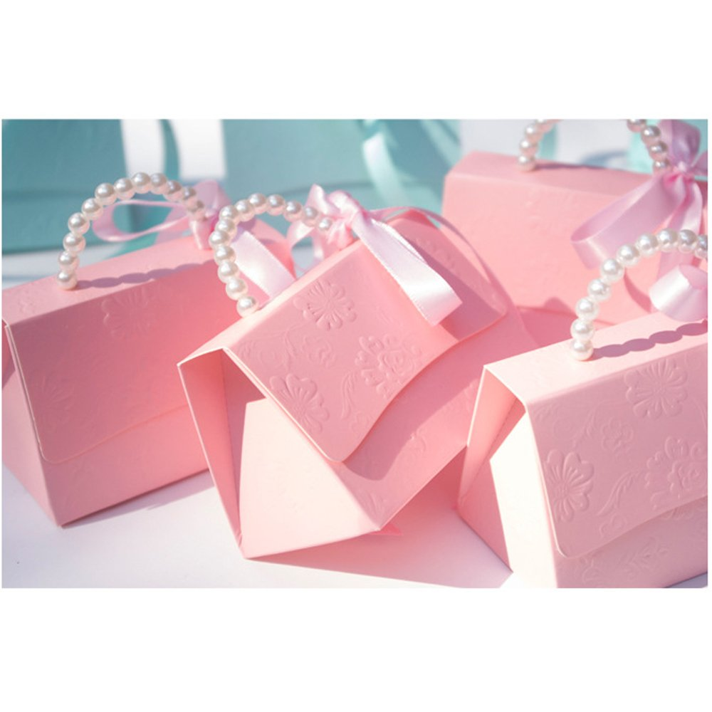 Amazon.com: Better-Way Romantic Pink Wedding Gift Bags with Handles ...