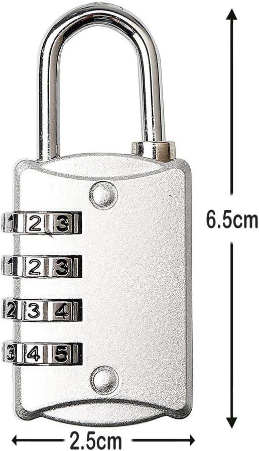Aleación de Zinc 50mm Combinación Candado de 4 dígitos