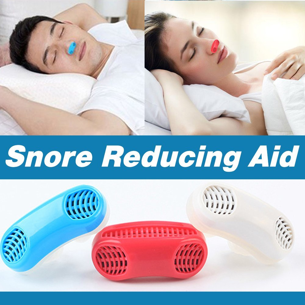 Joruby UPGRADED Advanced 2-IN-1 Anti Snoring and Air Purifier Sleeping Breath Aid Nose Clip Snore Stopper to Ease Breathing and Snoring ,Natural and Comfortable Sleep (WHITE)