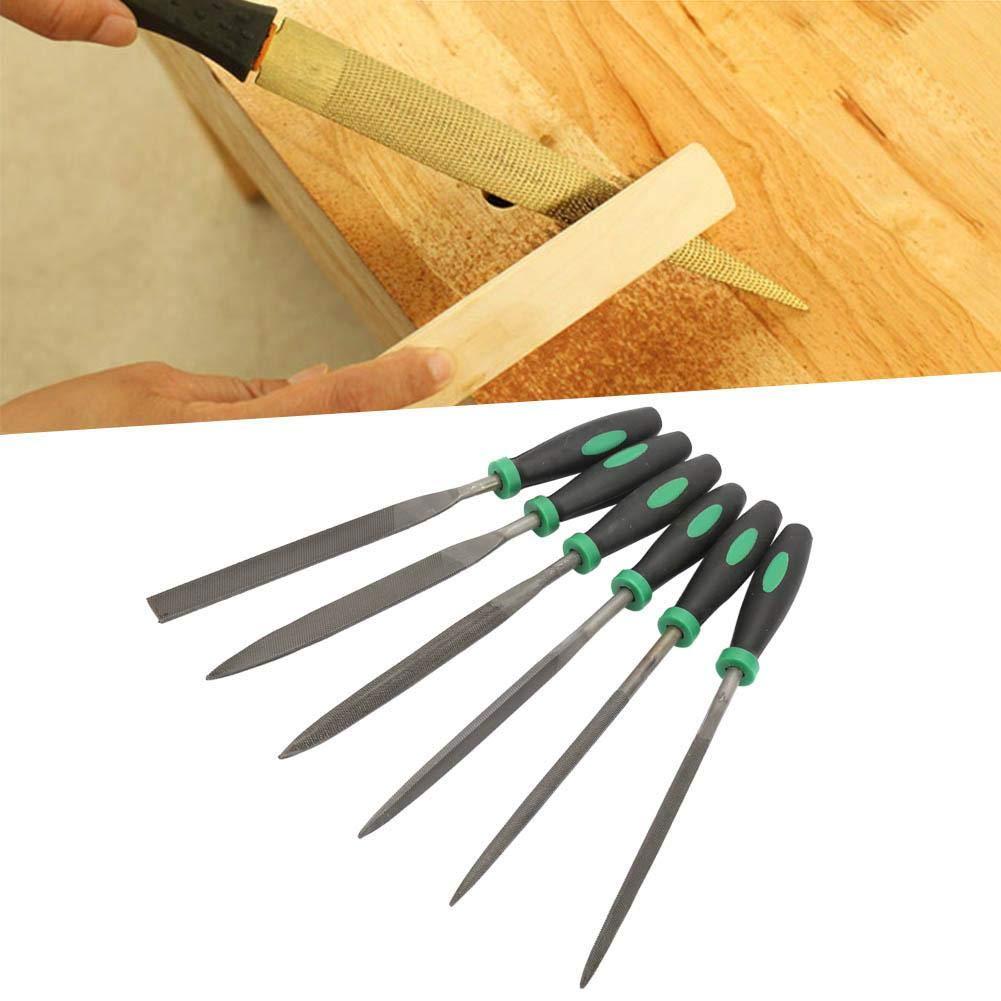 Juego de 6 limas de aguja de alta dureza de acero para procesamiento de metal Supordu