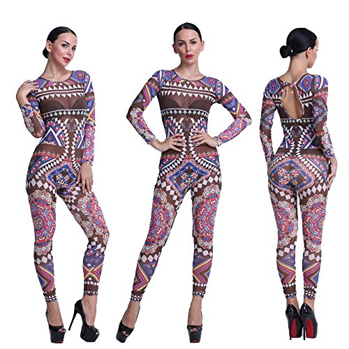 056f8bbb7b7 ACEFAST INC Ladies Sexy Gauze Jumpsuit Backless Bodycon Clubwear Romper  Trousers