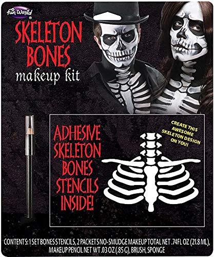 Fun World Unisex-Adult's Bones Make Up Kit, Multi, Standard]()
