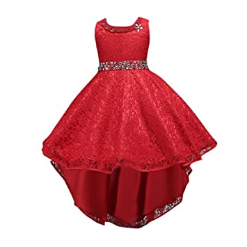 Vestido de fiesta para niñas Vestido de princesa de encaje para niñas Vestido de dama de