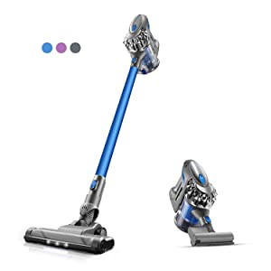 Cordless Vacuum, PUWEIKE Stick Vacuum Cleaner, 20Kpa, 180W Powerful Suction 4 in 1 Wireless Handheld Vacuum Cleaner, Hardwood Floors, Carpets and Pet Hair with Rechargeable Battery, P80 pro (Blue)