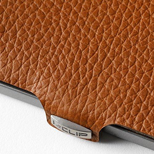 Leather nutshell CLIP amp; Design Money I Slim Clip Thin Minimalist Grain Full Wallet qt7Odx1wC